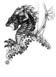 mechanical dragon by theumbrella on deviantART