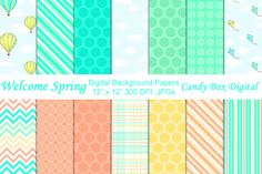 Check out Welcome Spring Digital Papers by candyboxdigital on Creative Market http://crtv.mk/jOOv