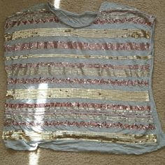 Super Cute Sequined Top Super cute gold and copper Sequined top sz 1x by cold water creek. Top worn once, looks great! Coldwater Creek Tops Blouses