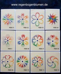 Alle aktuellen Regenbogenblumen im Format A6 auf einem Blick