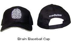 Brain Baseball Cap Medicine MD