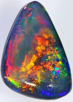 Black Opal Stones 15 x 11 x 3mm 2.75 carats Auction #593688 Opal Auctions