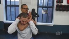 How many times have you been out on the town with friends, when suddenly out of nowhere you're being choked by a total stranger, or possibly by your significant other? Well worry no more. Krav Maga master Rhon Mizrachi shows Jordan Carlos how to defeat a choke hold in three easy steps.