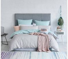 Love these colors! I want this bed head too