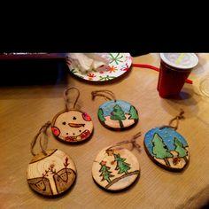 Wood burning ornaments!!