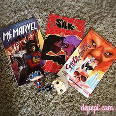 This week's pull list: #msmarvel #silk #spidergwen  #marvel #comics #funko #funkofunatic #funkopop #funkopops
