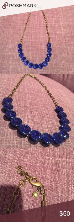 J.Crew Necklace Never worn j.crew Necklace in royal blue studs. An amazing piece to any outfit! J. Crew Jewelry Necklaces