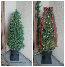 Add ribbon & decorate looks So much nicer! Christmas Topiary, Diy Christmas Tree, Christmas Holidays, Christmas Wreaths, Christmas Decorations, Christmas Ideas, Outdoor Decorations, Christmas Stuff, Fun Fall Activities