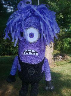 Purple Minion  pinata by MissSuziQCreations on Etsy, $35.00
