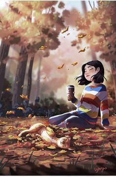 Feel the cosmos Girl Cartoon, Cartoon Art, Digital Art Girl, Jolie Photo, Cute Illustration, Anime Art Girl, Portrait Art, Aesthetic Art, Cute Art