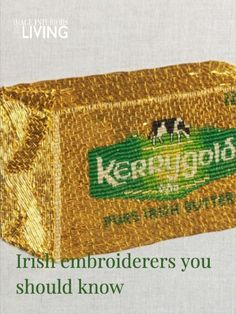 Providing delicate yet often whimsical designs, here are our favourite Irish embroiderers that we think you should know about too. Tambour Embroidery, Modern Embroidery, Embroidery Designs, Irish Design, Gold Work, Cutwork, Leprechaun, How To Introduce Yourself, Something To Do