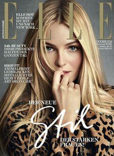 """womenmanagement: """" Valentina Zelyaeva on the cover of Elle Germany, October 2014 Photographed by Victor Demarchelier """" Fashion Magazine Cover, Fashion Cover, Magazine Cover Design, Magazine Covers, Elle Fashion, Queen Fashion, Trend Fashion, Fashion Models, Elle Magazine"""