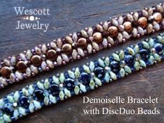 Demoiselle Bracelet by Wescott Jewelry (Pattern Available) - uses DiscDuos or Honeycomb Beads