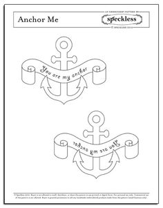 anchor me embroidery pattern