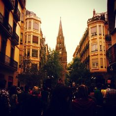 Each church in San Sebastian, Spain is facing another church in the city! #donostia #travelfacts #studyabroad