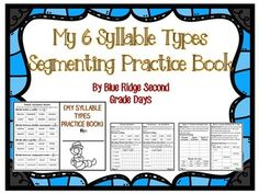 6 Syllable Type Book:Do your students often struggle decoding words or need more practice learning their syllable types? My second graders often struggle with this concept, and need specific instruction on how decode words by learning the 6 syllable types.