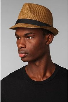 Natural Straw Fedora in 4 colors