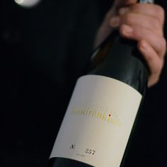 Wie Damals letterpress wine label