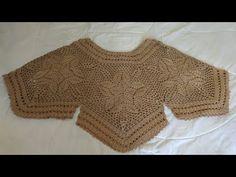 Blusa tejida a crochet todas las tallas - tutorial paso a paso - facil y rapido #1 - YouTube