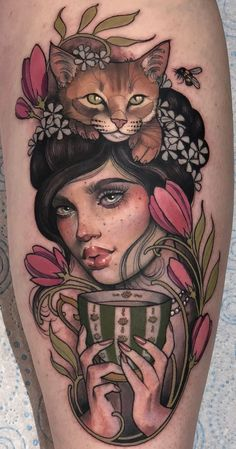 Girl Face Tattoo, Pin Up Girl Tattoo, Pin Up Tattoos, Fine Line Tattoos, Sexy Tattoos, Life Tattoos, Flower Tattoos, Body Art Tattoos, Sleeve Tattoos