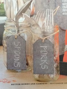 Chalkboard mason jar labels
