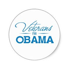 VETERANS FOR OBAMA -.png Round Sticker