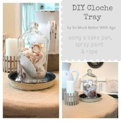 How to make a cloche tray www.somuchbetterwithage.com