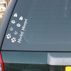 Mischief Managed: Dog, Werewolf, Stag, and Rat Harry Potter Car Decal