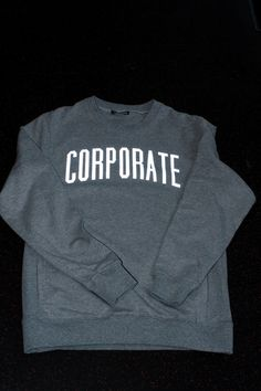CORPORATE 3M CREWNECK (HEATHER) $70  #CORPORATEGOTEM