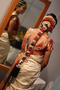 Gorgeous South Indian Wedding bridal Hairstyles (11)