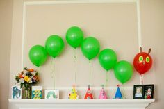 Very Hungry Caterpillar Party #veryhungrycaterpillar #party
