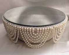 diy cake stand + pearls - Google Search