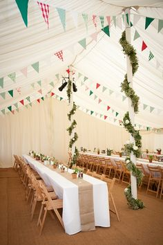 Summer wedding ~ vintage country wedding bunting