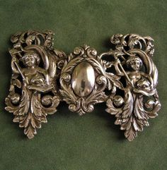 Antique Victorian Buckle Repousse 800 Silver by fancifulanne, $225.00