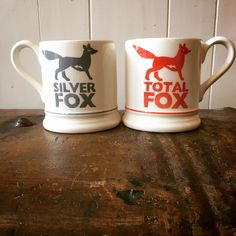 Silver Fox 0.5 Pint Mug and Total Fox 0.5 Pint Mug 2016