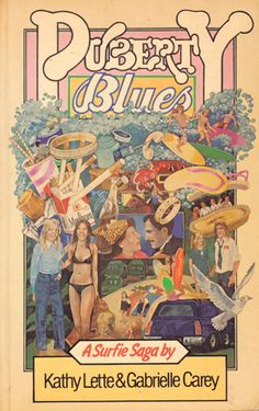 💗But Every Touch is Ooh-la-la-la Puberty Blues - our school library refused to buy it so our French teacher bought a copy for us all to read! Blue Poster, Purple Cat, French Teacher, Retro Aesthetic, Old Movies, Pop Culture, My Books, Nostalgia, Surfing