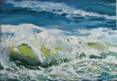 """Ocean Wave, Framed"" original fine art by Tricia Granzier"