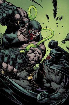Batman vs Bane by David Finch Arte Dc Comics, Marvel Comics, Hq Marvel, Batman Vs, Batman The Dark Knight, Superman, Batman Fight, Batman Cartoon, Batgirl