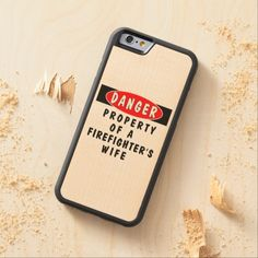 Firefighter Wife Carved® Maple iPhone 6 Bumper