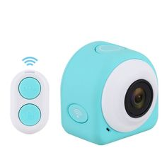 Flymemo Smart 1080P HD WiFi Camera with 145° Wide Angle Lens   2.4G Remote Controller   Magnetic/Sticky Mounting (Blue) * Click image to review more details.