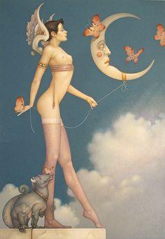 "Parkes, Michael - ""* Butterfly Moon (Fine Art Edition on Paper)"""