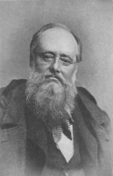 Wilkie Collins, author of The Moonstone, considered one of the first English detective novels.  Read more about it at http://readinginthegarden.blogspot.com/2013/10/the-moonstone-by-wilkie-collins.html