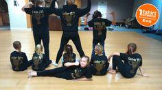 Gem's Dance school with their personalised, branded glitter vinyl t shirts! Glitter Vinyl, Dance, School, Prints, T Shirt, Dancing, Supreme T Shirt, Tee Shirt, Tee