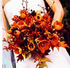 tulip autumnal bouquet