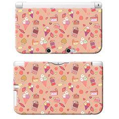 Sweet Tooth Kawaii Candy Art Print Nintendo 3DS XL Plastic Case Japan Anime