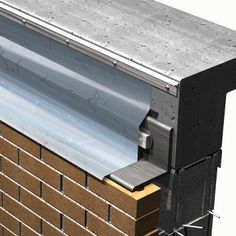 Metal Flashing with termination bar Roof Design, House Design, Detail Architecture, Roof Flashing, Roof Detail, Window Repair, House Siding, Building Systems, Flat Roof