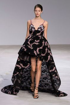 "Giambattista Valli - ""I hope someone wears this on the red carpet! I love how it's mini in the front and a full gown in the back. It's romantic, it's modern, it's cool."""