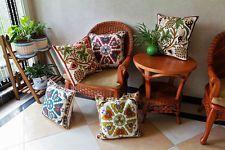 Vintage Cotton Linen Cojín sofá cama en la cintura Funda Almohadón Funda Decoración del Hogar
