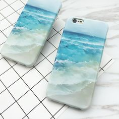 LOVECOM For iPhone 7 7 Plus 6 6S Plus Case Top Quality Beautiful Fresh Beach Back Cover Soft IMD Material Phone Cases YC2100