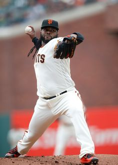 . The San Francisco Giants\' Johnny Cueto (47) pitches against the Los Angeles Dodgers in the first inning at AT&T Park in San Francisco, Calif., on Sunday, April 10, 2016. (Josie Lepe/Bay Area News Group)
